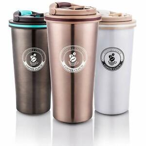 Edelstahl Kaffeebecher to Go von Coffee Cloud Travel Mug Autobecher Trinkbecher