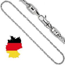 5 mm Halskette 585 echt Weißgold Designer Goldkette Herren 55 cm 14 Karat neu