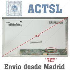 """ASUS EeePC 1101HA LCD Display Pantalla Portatil 11.6"""" HD 1366x768 LED 40pin ady"""