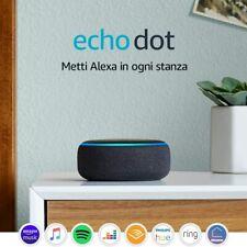 Amazon ECHO DOT ( 3°generazione) Garanzia Italia col. Antracite