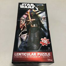 "NEW Star Wars Lenticular Puzzle 100 Piece  9"" x 12"" Sealed"