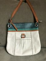 The Sak Women's Kendra Handbag Purse Stone Color Block Genuine Leather Crossbody