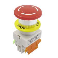 Pulsante fungo Cap 1NO 1NC di arresto di emergenza interruttore AC 660V 10A G1Z1
