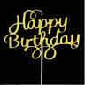 TOPPER Aufsatz Happy Birthday Geburtstag Torten Kuchen Muffins Deko Figuren Gold