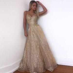 Abendkleid Gold Lang In Brautjungfern Besonderne Anlasse Artikel Gunstig Kaufen Ebay
