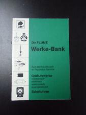 BUCH UHRMACHER Flume Werke-Bank   #719
