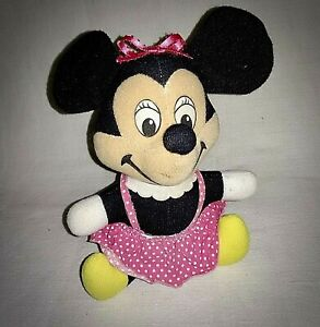 """Vintage 1950's Disney 7"""" MINNIE MOUSE DOLL ~ In Remarkably Good Shape"""