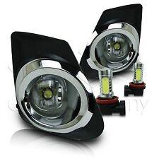 2011-2013 Toyota Corolla Fog Lamps w/Wiring Kit & COB LED Bulbs - Clear