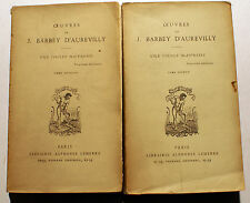 BARBEY D'AUREVILLY/UNE VIEILLE MAITRESSE/ED LEMERRE/VERS 1900/2 VOLS