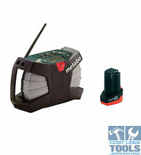 Metabo RC 12 Wild Cat Job Site Radio Charger & 12 Volt Battery Pack