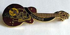 VINTAGE HARD ROCK CAFE MEMPHIS CHET ADKINS GUITAR pin BROOCH enamel gold tone