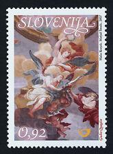 Slovenia 727 MNH Art, Fresco, St Nicholas Cathedral