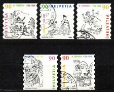 Switzerland - 1999 Rodolphe Töpffer Mi. 1675-79 FU