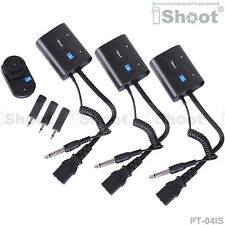Wireless Flash Trigger PT-04 for 3.5mm/6.35mm SYNC JACK Studio Strobe
