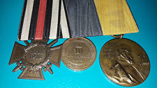 MEDAL WW1 GERMAN GROUP OF 3 - CROSS OF HONOUR + 1870-1871 FRAN/PRU WAR + WILHELM