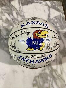 1996-1997 University of Kansas Jayhawks Official Team Autographed Basketball KU