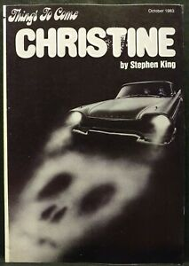 Things To Come SFBC Newsletter October 1983 Christine by Stephen King