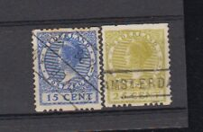 Netherlands Stamps, Rouleted, #156B/ 158B, Used, Cv 72 Euro