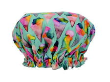 NEW Ladies Elasticised Shower Cap Ice Cream Cones Design Australian Made