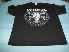 WOA Wrestling Get In The Ring Metalheads! double-sided T-Shirt Size 2XL w o a