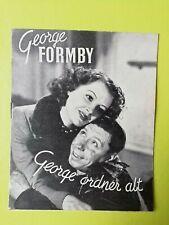 "Vintage Danish Film Program. ""Let George Do It"" George Formby."