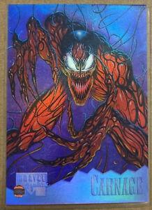 Super RARE Marvel Masterpiece 1995 HOLOFLASH insert #2 of 8 CARNAGE!