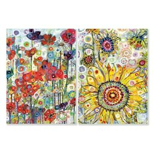 Sally Rich Poppies and Sunflowers 8 Mini Notecards