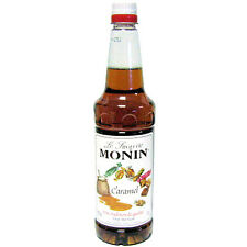 MONIN Coffee Syrup 1Ltr CARAMEL - Great for desserts, teas & choc drinks too!