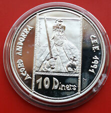 Andorra: 10 Diners 1991 Silber Proof, KM# 71, Gem Proof-PP, #F0219