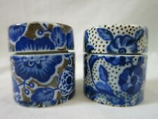 Takahashi San Francisco 2 Porcelain Ink Pill Ring Trinket Boxes Lids Cork Lining