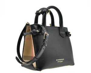 Burberry Small Tote Baby Banner Shoulder Bag House Check Derby New