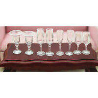 4Pcs 1:12 Dollhouse miniature goblet cup doll house kitchen wine glass cups// BH
