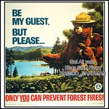 Fridge Fun Refrigerator Magnet SMOKEY THE BEAR Retro AD Poster -Version H-