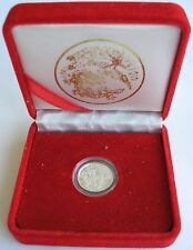 1990 China Silver Proof 5 Yuan Dragon & Phoenix Box+COA