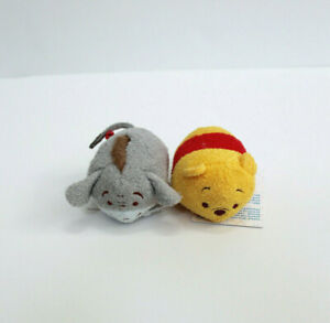 "Disney Mini tsum tsum Winnie The Pooh Bear & Eeyore Character Plush 3.5"""