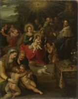 """oil painting on canvas """" the christ child as the lamb of god   """"N9861"""