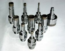 "Core Drill Bit Diamond Sintered Belgian Mount D1/4"" - 2-3/4"" L75/95mm for Glass"
