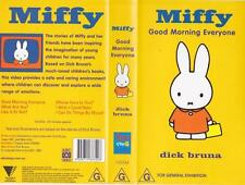 MIFFY GOOD MORNING EVERYONE  VHS VIDEO PAL~ A RARE FIND