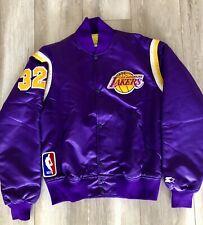 Champion Starter Vintage Los Angeles Lakers Bomber Jacket Size M.