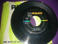 "Pop 45 Paul & Paula ""Hey Paula / Bobby Is The One"" Philips VG"