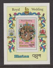 1981 Royal Wedding Charles & Diana MNH Stamp Sheet Bhutan Perf 20nu SG MS444