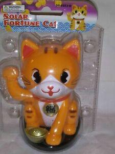 Solar Dancing fun- fortune cat orange