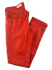 """Adriano Goldschmied Stevie Slim Straight Ankle Red Jeans Size 26x28x8"""""""