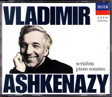 Vladimir Ashkenazy: Scriabin 10 Piano Sonatas Decca 2cd pianoforte SONATE 1989