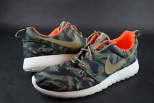 New Mens Nike Roshe Run Print 655206 203 SZ 11.5 Olive Seaweed shoes sneakers