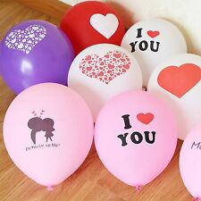 "25pcs 12"" Mixed Color Love Printed Latex Balloons Celebration Party Wedding"