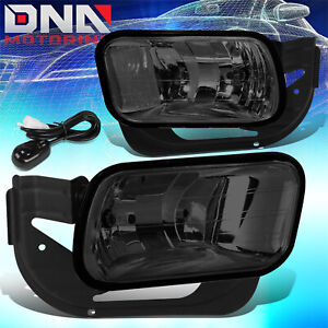 FOR 2009-2018 DODGE RAM 1500 2500 3500 SMOKED LENS FRONT DRIVING FOG LIGHT LAMPS