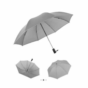 Automatic Reverse Folding Umbrellas Windproof And 3 Folds With Reflective Strips