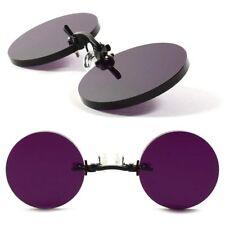 Old Fashion Pince Nez Gothic Vampire Purple Costume Cosplay Round Sun Glasses