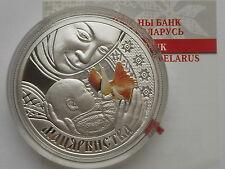 Belarus  Weißrussland  20 rubel 2011 Motherhood  Silver 1oz COA
